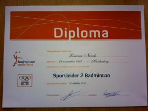 Diploma Sportleider 2